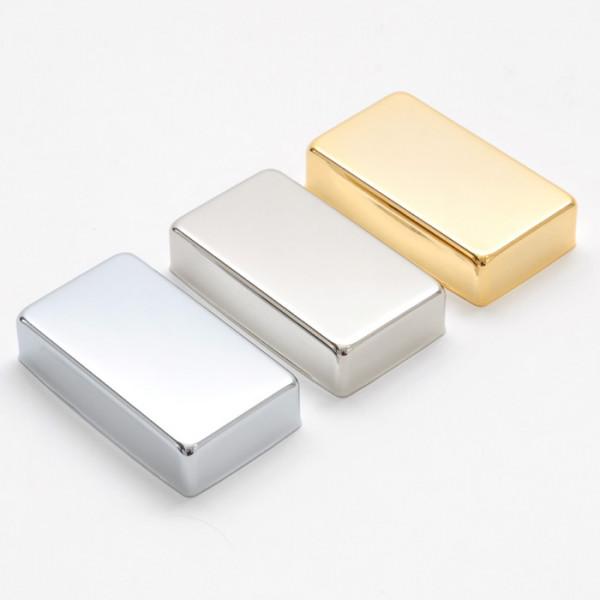 Humbuckerkappe aus Metall (Neusilber)