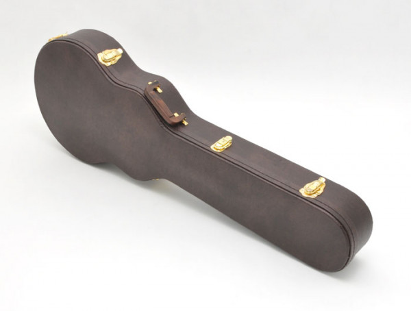 SCC Canadian Guitar Case for Les Paul, Arched Top, Brown