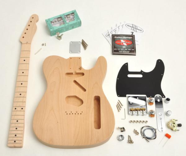 Premium Tele® Style Kit, unlackiert, ohne Pickups