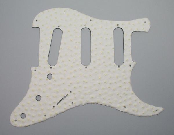 Pickguard für Strat, Standard SSS, Ostrich White