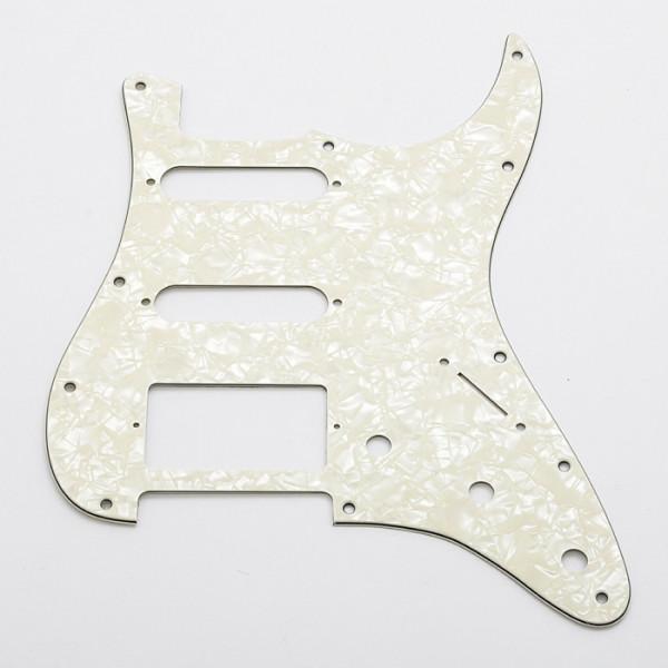 Pickguard für Strat, HSS, white pearl