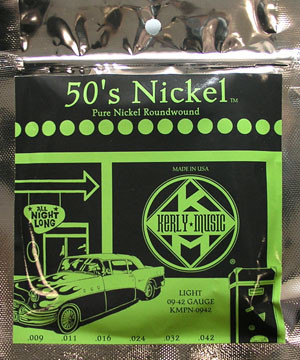 KERLY KUES Electric Strings, 50s Pure Nickel