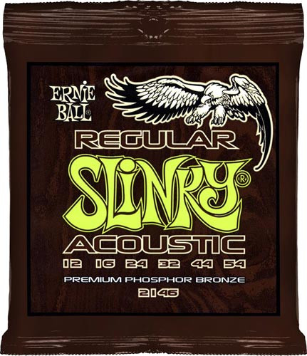Ernie Ball Acoustic Strings, Phosphor Bronze