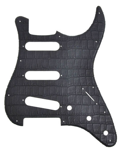 Pickguard für Strat, Standard SSS, Alligator