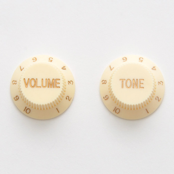 Knobs for Strat, aged white