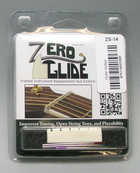 Zero Glide Nut System for Acoustic Guitars
