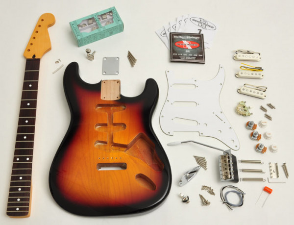 Premium Plus Strat® Style Kit, 3-Tone Sunburst
