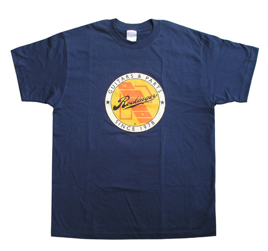 Rockinger Retro Logo T-Shirt, Navy Blue