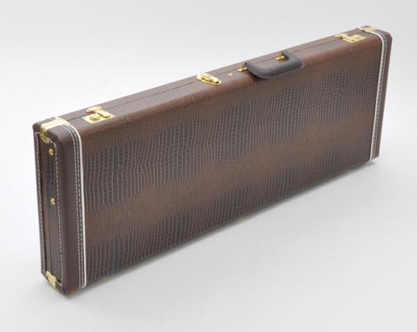 SCC Canadian Guitar Case for Strat/Tele, Brown Croc