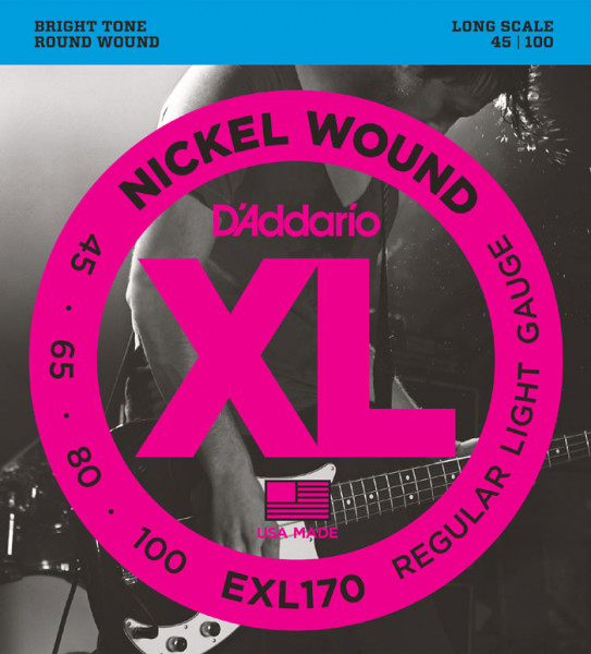 D´Addario Bass Strings EXL170, 045-100