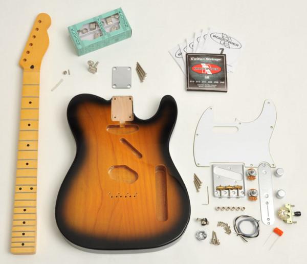 Premium Tele® Style Kit, 2-Tone Sunburst, ohne Pickups