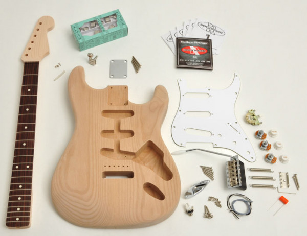 Premium Strat® Style Kit, unfinished (unlacquered), without Pickups