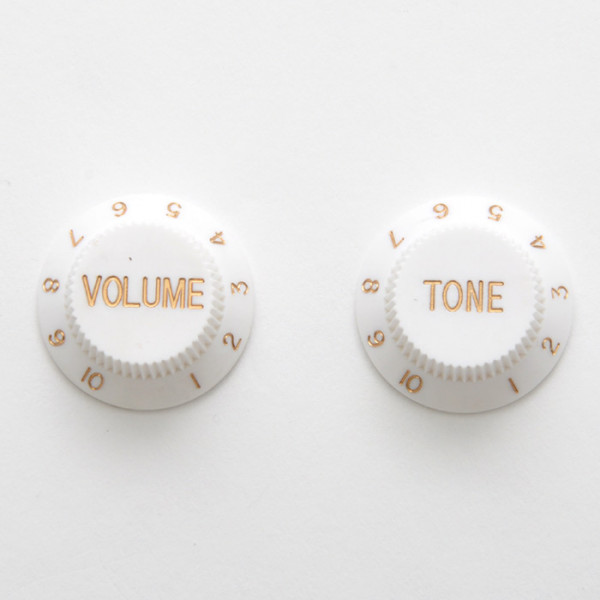 Knobs for Strat, white